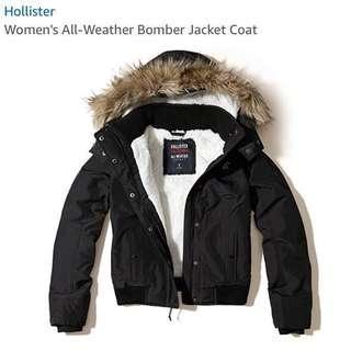 🚚 Hollister 保暖絨毛風衣外套