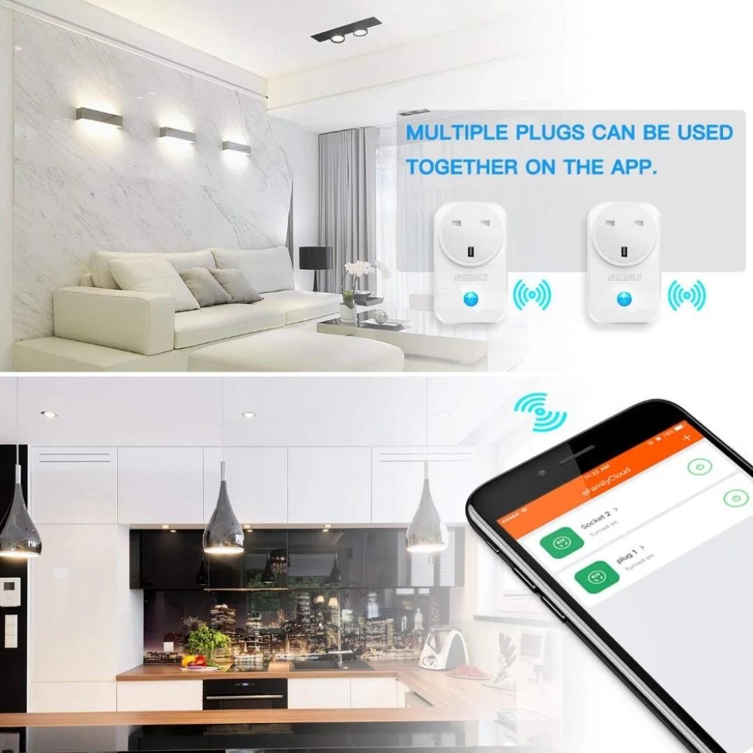 2062 SZMDLX Smart Plug WiFi Plug Work with Amazon Alexa Google Assistant  Support IFTTT Remote Control Timer Plug Socket Smart Socket No Hub Required
