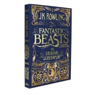 🚚 Fantastic Beast And Where To Find Them Original Screenplay Jk Rowling Harry potter
