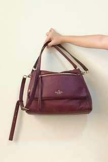 🚚 Kate Spade Toddy Corssbody Handbag in Mulled Wine Maroon