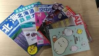 日本北海道,空中英文雜誌,可愛筆記本