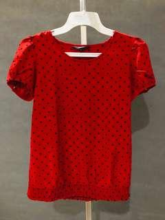 Cole Top in red polka