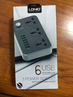 Ldnio 3 Power Socket 6 Usb