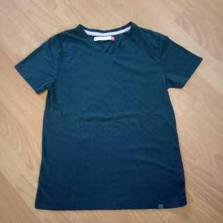 Green V-Neck Shirt