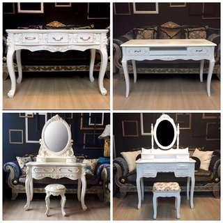 French and victorian desk and dresser