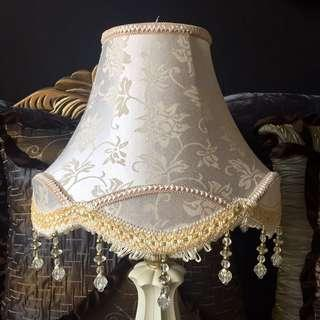 New. 33cm lamp shade with beads
