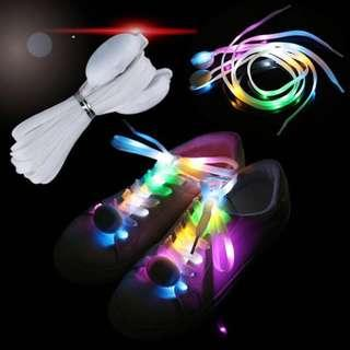 LED Running Multicolor Battery Powered Glow Shoelaces