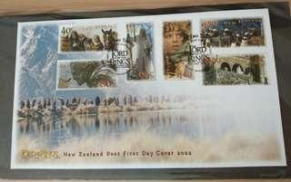 2002 Lotr fdc stamps lord of the rings Refugees of rohan New Zealand tolkien