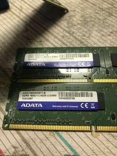 DDR3 1600Mhz 4GB