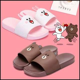 🚚 Line Friends Couple Slippers