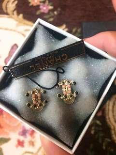 Chanel 真品全新巴洛克風格夾式耳環