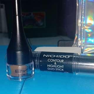Makeup Bundle ( Bys Brow Gel & Nichido Contour & Highlight Stick )