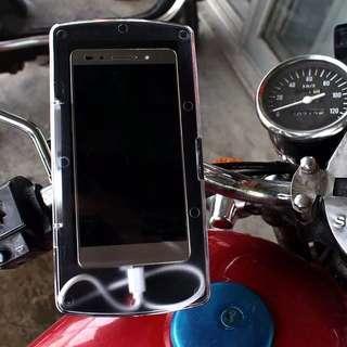 新款摩托车支架导航架12v手机盒防水包防尘带USB充电器骑行装备