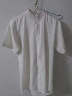 Free : Top for him : white short sleeve shirt round neck