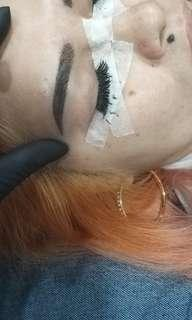 Eyebrow embroidery natural
