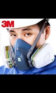 3M 7502 Full Set Mask - Medium Size plus 10 Free 5N11 Filters