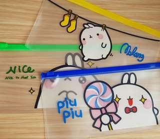 🚚 Transparent Cute pencil cases!