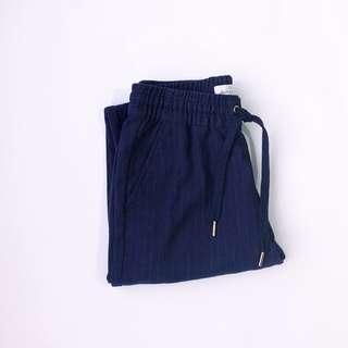 H&M Striped Blue Cotton Trouser • Size S