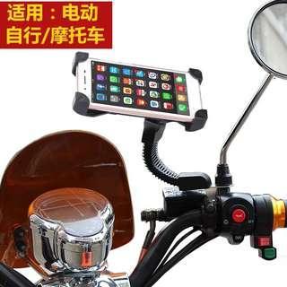 自行车手机支架支架防水包山地车电动车摩托车导航架骑行配件通用