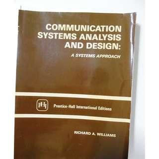 Communication Systems Analysis and Design - A Systems Approach