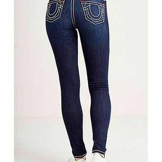 True Religion - Low Rise Skinny Stretch Jeans / Jeggings - Size 27