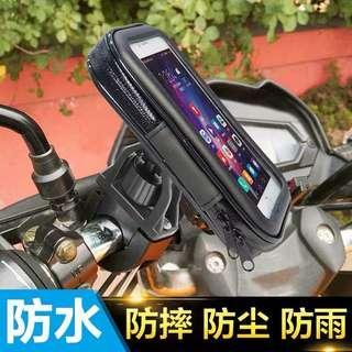 摩托车手机支架助力车适用快速防水防震摩旅导航支架防震防水包