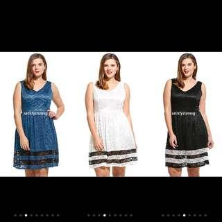 🚚 PLUS SIZE IKNT Women Sleeveless Solid V Neck Color Dress
