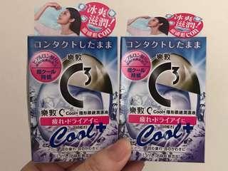 「現貨」$55@每盒,日本 日本藥妝 樂敦 C3 Cool + 隱形眼鏡專用眼藥水 眼藥水 隱形眼鏡 冰涼 冰爽 滋潤 潤濕液 13ml