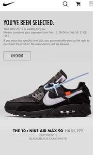 [US10]「AIR MAX 90」OFF-WHITH BLACK
