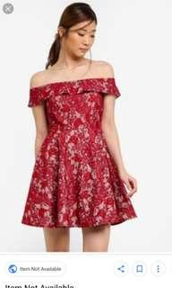 Something Borrowed Lace Fit and Flare dress