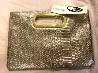 Nine West Gold Clutch Bag