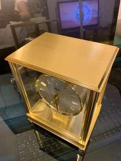 德國製Horn金黃銅古董石英座鐘