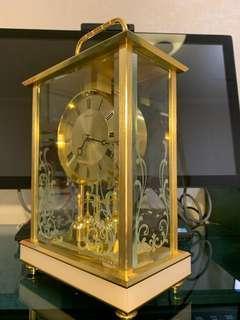 全新日本SEIKO精工DECOR古董黃銅石英座鐘