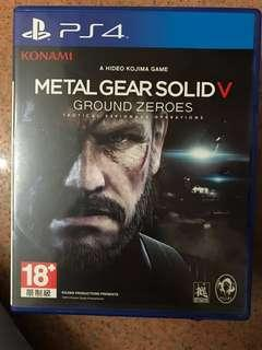 PS4 Metal gear solid V ground zeros games
