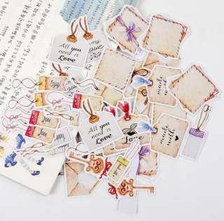 [In stock] 40pcs Mini Tag with Message Stickers