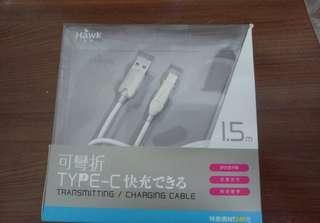 🚚 可彎折Type-C充電傳輸線