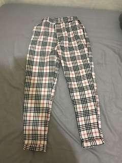 Celana panjang / celana wanita / celana bahan / celana kotak kotak