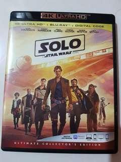 Solo A Star Wars Story 4K Ultra HD plus Blu-ray
