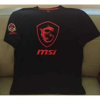 "[新品, 下水洗過] msi ""Masters Gaming Arena T-Shirt (sizes:XL)"