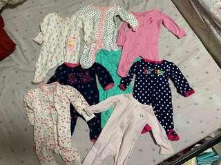 600 only all 8 Carters frogsuits