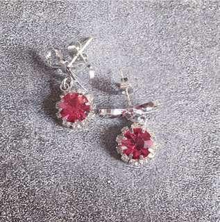 銀色蝴蝶結耳環Earrings