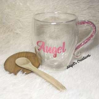 Personalized/Customized Crystal Handle Glass (with gift box)