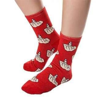 中指襪 (紅,黑,粉紅 3色) $20