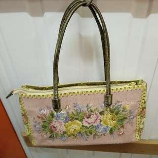 Think Bee Handbag 日本品牌織錦手袋