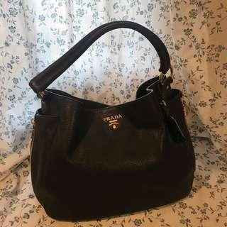 100%real Prada leather handbag
