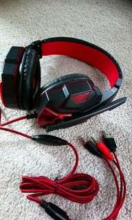 GAMER HEADPHONES W MIC