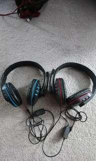 New blue or red gaming headphones