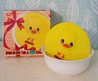 🚚 日本日清黃色小雞泡麵碗400ml附蓋 NISSIN元祖雞專用陶瓷泡麵碗