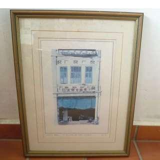 Watercolor Limited Print - 10 Tan Quee Lan Street (by Catherine Beale) #46/199