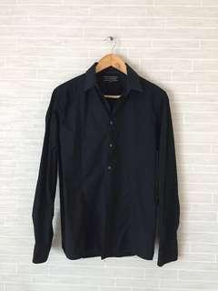 Almost New Mens GIANNI VALENTINO Black Slim Fit Shirt
